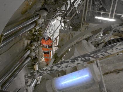 NGE – Redémarrage du tunnelier Koumba